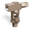 """Inverted Angle Heavy Duty Sight Feed Valve, Solid Gasket 1/2"""" Female NPT Inlet, 1/2"""" Male NPT Outlet, Tamperproof -- B743-6-SG -Image"""
