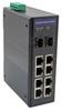 10 Port Industrial Ethernet DIN Rail Switch, 8x RJ45 10/100TX PoE 802.3at 30W/port 120W Total Budget, 1x RJ45 10/100/1000TX, 1x SFP 1000FX