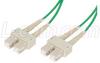 50/125, Multimode Fiber Cable, Dual SC / Dual SC, Green 10m -- FODSC50-GR-10 -Image