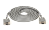 10FT F/F DB9 9-Conductor Straight-Wire Stranded Cable EMI/RFI Hood -- EGM12D-0010-FF - Image