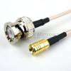 BNC Male to SMB Plug Cable RG-316 Coax in 24 Inch -- FMC0816315-24 -Image