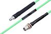 Temperature Conditioned SMA Female to TNC Female Bulkhead Low Loss Cable 72 Inch Length Using PE-P142LL Coax -- PE3M0139-72 -Image