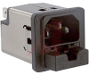 Filter, AC Line; 2; 125/250 VAC; 10 A; 0.5 mA (Max.) @ 250 V/60 Hz; Black -- 70080087 - Image