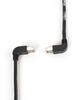 15FT Black CAT6 250MHz Angle Patch Cable S/FTP CM Down-Up -- EVNSL217S-0015-90DU - Image