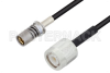 Snap-On BMA Jack to TNC Male Cable 24 Inch Length Using LMR-100 Coax -- PE3C4932-24 -Image