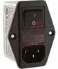 EMI POWER LIN FILTER, MULTI FUNCTION MOD, W/O VOLT SELECT, W/IEC CONN, DBL FUSE -- 70133418 - Image