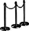 PlastiChain single black post -- 460-002