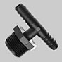 Tee: Male Pipe Thread to Hose Barbs -- T1814T