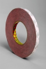 3M 469 Red Bonding Tape - 1/2 in Width x 60 yd Length - 5.5 mil Thick - Silicone-Coated Paper Liner - 38394 -- 021200-38394