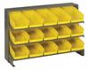 Bins & Systems - 4'' Shelf Bins (QSB Series) - Sloped Shelving Units - Bench Racks - QPRHA-102 - Image