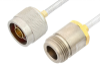 N Male to N Female Cable 48 Inch Length Using PE-SR402FL Coax -- PE3485LF-48 -Image