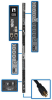 10kW 3-Phase Switched PDU, LX Interface, 208/240V Outlets (24 C13/6 C19), LCD, NEMA L15-30P, 1.8m/6 ft. Cord, 0U 1.8m/70 in. Height, TAA -- PDU3EVSR6L1530 -- View Larger Image