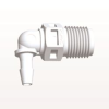 Elbow Connector, Barbed, White -- N4E430 -Image