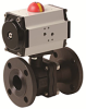 Pneumatically Actuated 2 PC Flanged Carbon Steel Valve -- PHC FL Series