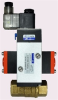 """BRASS AIR ACTUATED BALL VALVE, 1/2"""" NPTF, DOUBLE ACTING, SINGLE SOLENOID, 24VDC -- B2CM04-B-0"""