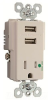 Combination Switch/Receptacle -- TR-8201USBW -- View Larger Image