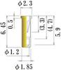 Medium Size Socket Pin -- PDC185-645-GG -Image