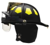 Fire Helmet,Black,Traditional -- 9YGW9