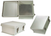 12x10x5 Inch Weatherproof NEMA 4X Enclosure with Blank Aluminum Mounting Plate -- NB121005-KIT -- View Larger Image
