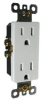 DECORATOR RECEPTACLE TAMPER PROOF 15 AMPS IVORY -- 602564