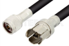 N Male to GR874 Sexless Cable 24 Inch Length Using RG214 Coax -- PE3133-24 -Image
