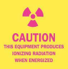 Caution Radiation Sign,2-1/4 x 2-1/4In -- 1VD10