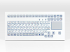 Industrial Tks Keyboard For Front-side Integration With Integrated Touchpad -- TKS-088c-TOUCH-MODUL