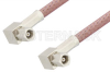 SMC Plug Right Angle to SMC Plug Right Angle Cable 48 Inch Length Using RG142 Coax, RoHS -- PE33645LF-48 -Image