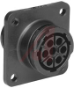 CPC Receptacle w/Mounting Holes, 7 Pos., Size 13,Reverse Sex,Series 1;VDE Tested -- 70087237