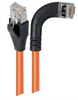 Category 5E Shielded Right Angle Patch Cable, Right Angle /Straight, Orange 20.0 ft -- TRD815SRA7OR-20 -Image