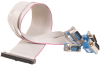 40-Pin IDC Ribbon Cable to (4) DB9 Male Connectors, 14 inch Length -- CA273