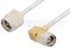 SMA Male to SMA Male Right Angle Cable 6 Inch Length Using PE-SR405FL Coax -- PE3958-6 -Image