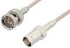 75 Ohm BNC Male to 75 Ohm BNC Female Cable 36 Inch Length Using 75 Ohm RG179 Coax, RoHS -- PE33443LF-36 -Image