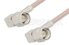 SMA Male Right Angle to SMA Male Right Angle Cable 12 Inch Length Using RG316 Coax, RoHS -- PE3515LF-12 -Image