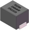 0.33uH, 20%, 1.3mOhm, 50Amp Max. SMD Flat Wire Inductor -- SQ10A-R33MHF -- View Larger Image