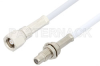 SMC Plug to SMC Jack Bulkhead Cable 12 Inch Length Using RG188-DS Coax, RoHS -- PE34500LF-12 -Image