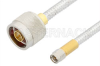 SMA Male to N Male Cable 24 Inch Length Using PE-SR401FL Coax, RoHS -- PE34263LF-24 -Image