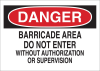 Brady B-401 High Impact Polystyrene Rectangle White Restricted Area / No Trespassing Sign - 14 in Width x 10 in Height - 22076 -- 754476-22076