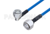 Plenum 4.3-10 Male Right Angle to 4.3-10 Male Low PIM Cable 48 Inch Length Using SPP-250-LLPL Coax , LF Solder -- PE3C4147-48 -Image