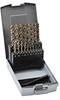 Jobber Drill Bit Set: HSS-Co5, 1.0 to 10.0mm diameter, 19-pc -- 215214RO -- View Larger Image