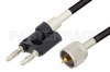 UHF Male to Banana Plug Cable 72 Inch Length Using RG58 Coax -- PE3010-72 -Image