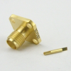 SMA Female Connector Tab Terminal Solder Attachment 4 Hole Flange -- SC7582 -Image