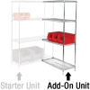 Wire Shelving Add-On Unit, 36