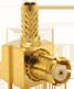 RP-MCX Male Right Angle Cable End Crimp -- CONREVMCX012-R178 - Image