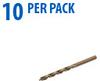 Jobber Drill Bit: heavy duty HSS-Co5, 1/8 inch diameter, 10/pk -- 215805 -- View Larger Image