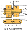 Double Pitch Chain Attachment with Large Plastic Rollers -- C2102HD K-1 - Image