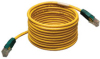 Cat5e 350MHz Molded Cross-over Patch Cable (RJ45 M/M) - Yellow, 25-ft. -- N010-025-YW - Image