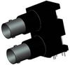 50 OHM DUAL PORT BNC R/A JACK, ISOLATED BLACK -- 031-6575 - Image