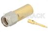 SMA Male Connector Solder Attachment for PE-SR401AL, PE-SR401FL, RG401 -- PE4907 -Image