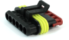 TE Connectivity AMP Superseal 1.5mm 6 Position Plug Housing, 282090-1 -- 38282 -- View Larger Image